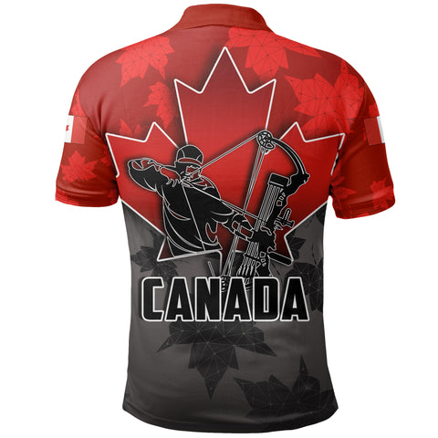 Canada Polo Shirt Archery With Maple Leaf TH4