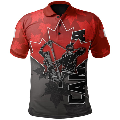 Canada Polo Shirt Archery With Maple Leaf