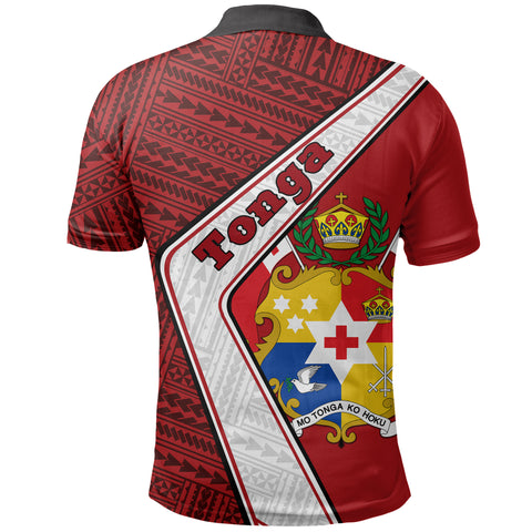 Tonga Polo Shirt - Polynesian Coat Of Arms | Love The World