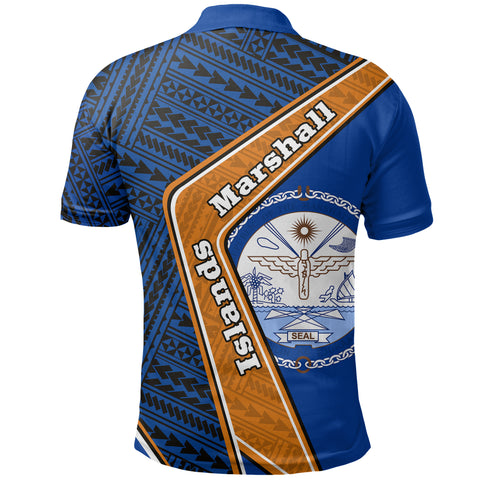 Image of Marshall Islands Polo Shirt - Polynesian Coat Of Arms | Love The World