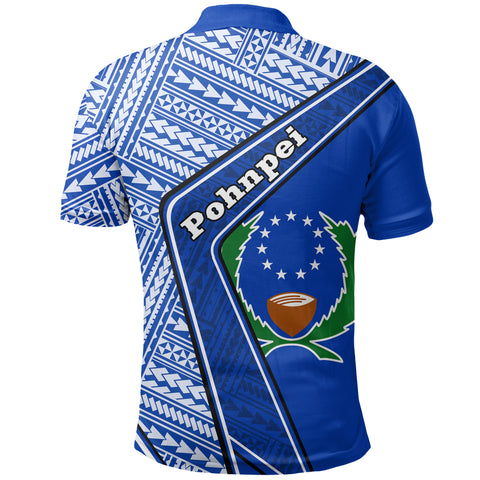 Pohnpei Polo Shirt - Polynesian Coat Of Arms | Love The World