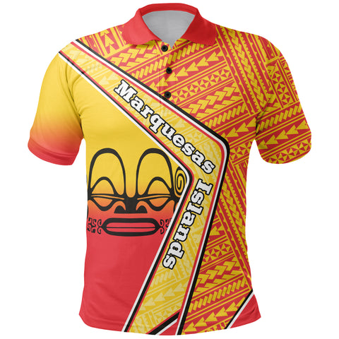 Marquesas Islands Polo Shirt - Polynesian Coat Of Arms | Love The World