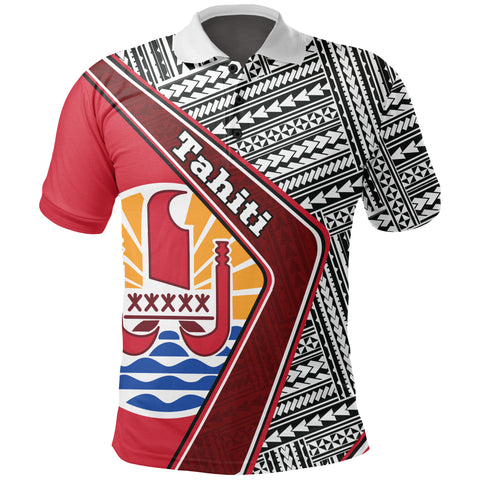 Tahiti Polo Shirt - Polynesian Coat Of Arms | Love The World