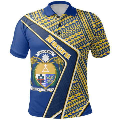 Nauru Polo Shirt - Polynesian Coat Of Arms | Love The World