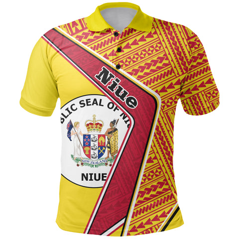 Image of Niue Polo Shirt - Polynesian Coat Of Arms | Love The World