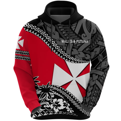 Wallis And Futuna Hoodie Fall In The Wave - Front
