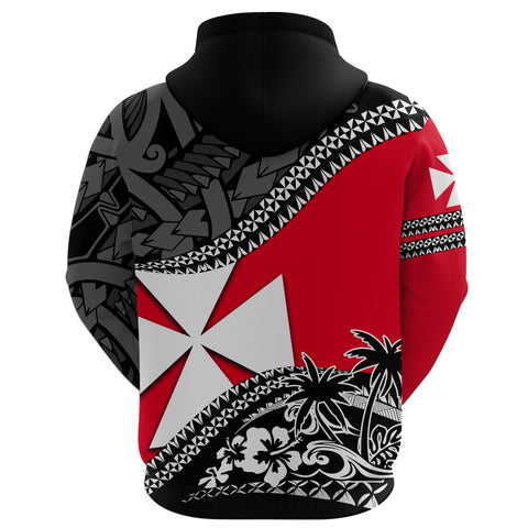 Wallis And Futuna Hoodie Fall In The Wave - Back