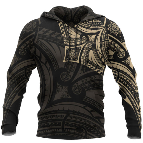 Polynesian Flower Tattoo Style Hoodie | All Over Print | Women Men