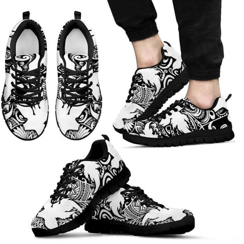 Polynesian Pattern 03 Sneaker Hj4 Mens Sneakers - Black / Us5 (Eu38) Shoes