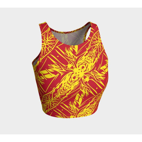 Polynesian Pattern 06 Athletic Crop Top H4 Tops