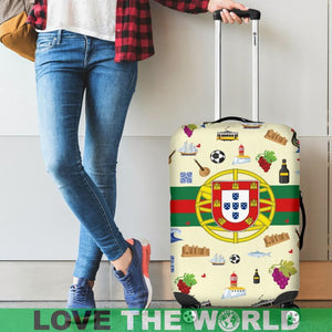 Portugal Symbols Luggage Cover NN8