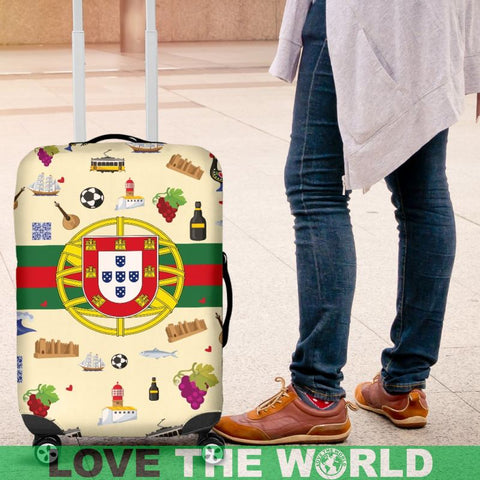 Portugal Symbols Luggage Cover Nn8 | Love The World
