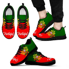 Portugal Flag And Coat Of Arms Men\u0027S / Women\u0027S Sneakers (Shoes)02 NN8