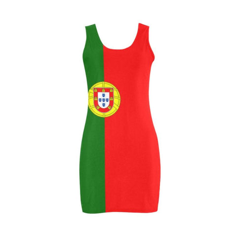 Portugal Flag Medea Vest Dress A1 Dresses