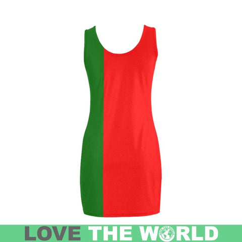 Portugal Flag Medea Vest Dress Dn1 Dresses