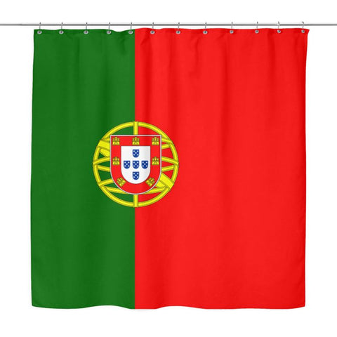 Portugal Flag Shower Curtain A9 Y1 Curtains