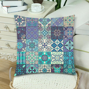Portuguese tiles in talavera style pillow case 3 K5