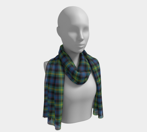Image of Tartan Long Scarf - Watson Ancient