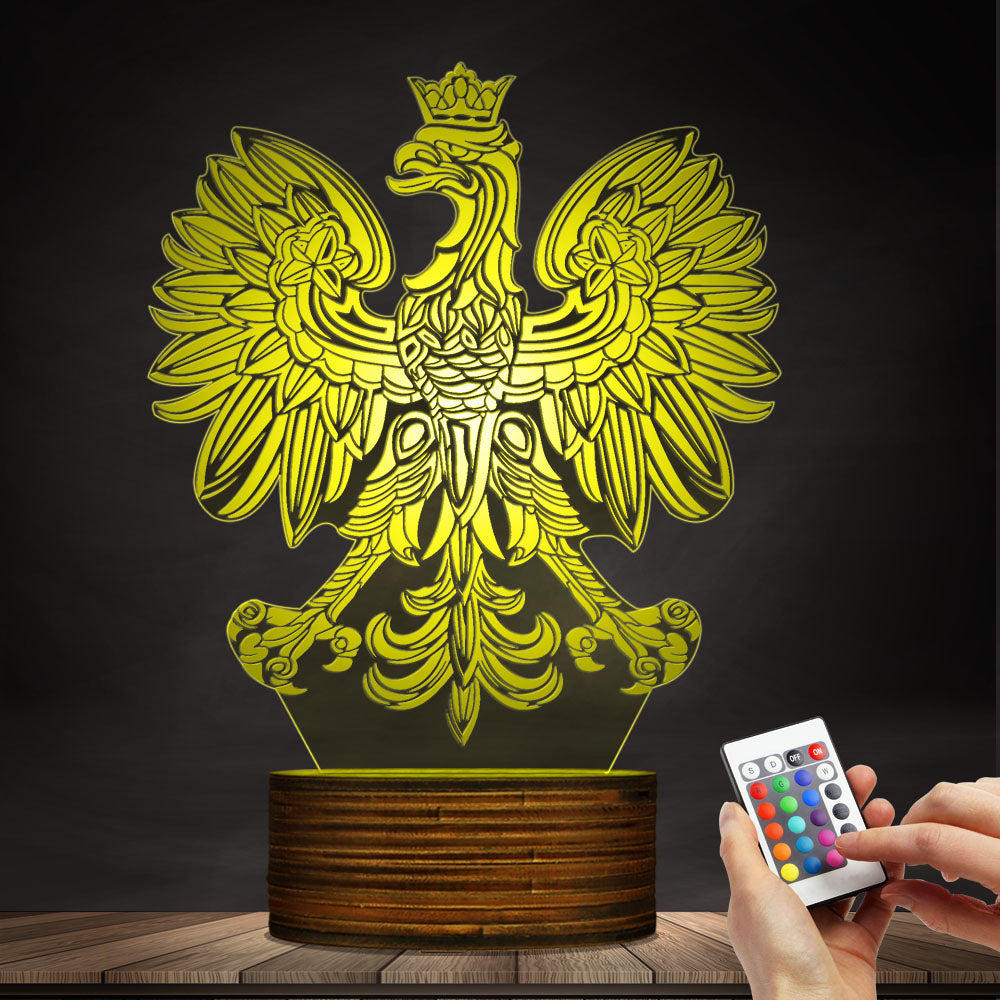 Poland Night Lamp - Poland Coat Of Arm 3D Night Lamp H21 – 1stTheWorld