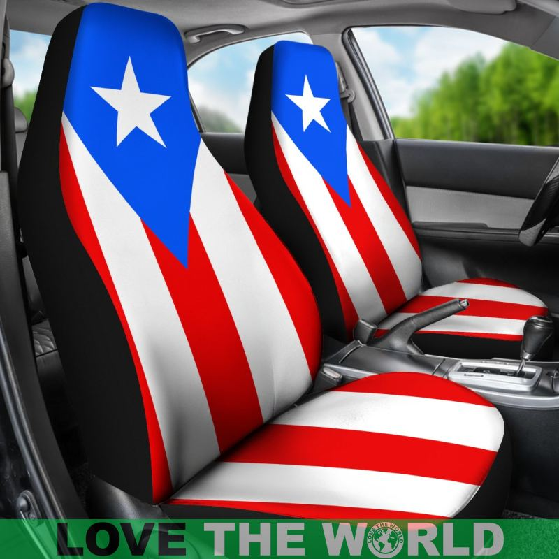 PUERTO RICO FLAG CAR SEAT COVERS - BN
