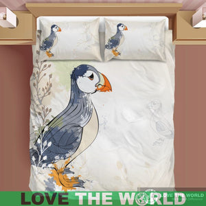 Puffin bedding set - puffin, puffin bedding set, puffin bedding, home set, online shopping