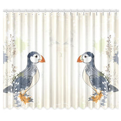 PUFFIN IN ICELAND WINDOW CURTAIN NL1