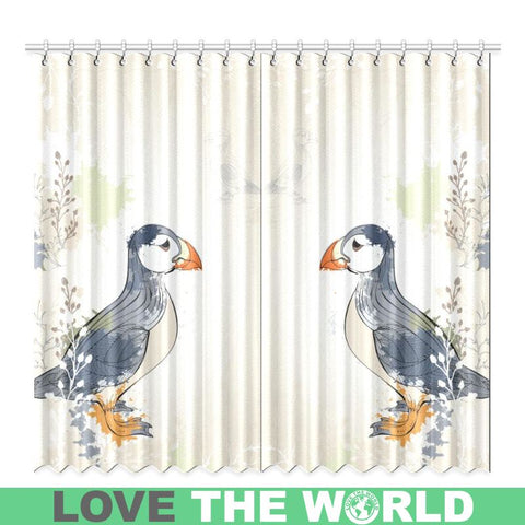 Puffin In Iceland Window Curtain C1 One Size / 50X84 Window Curtain 50X84(Two Piece) Curtains