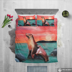 Puffin and seals bedding set 2 K5