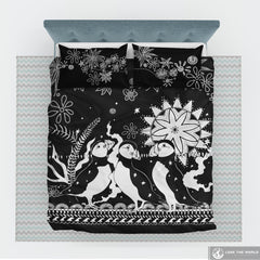 Puffin bedding set with bw style K5