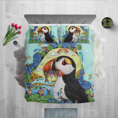 Puffin colorful bedding set K5