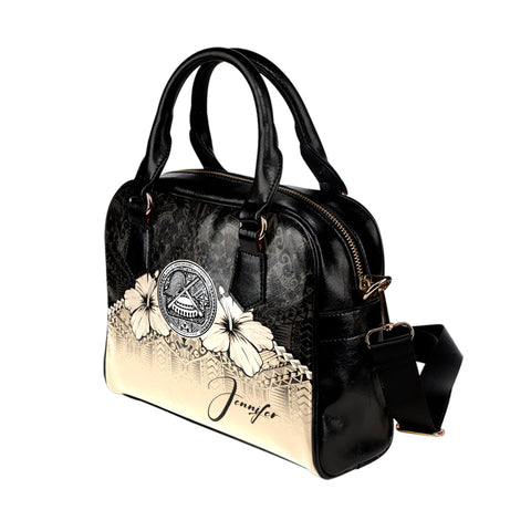 Image of (Custom) American Samoa Shoulder Handbag Hibiscus Personal Signature A024