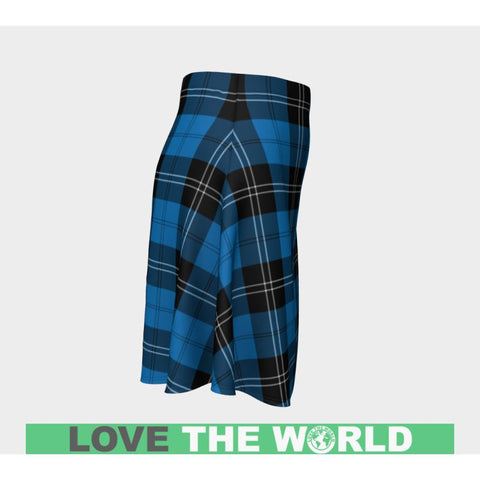 Tartan Skirt - Ramsay Blue Ancient Women Flared Skirt A9 |Clothing| 1sttheworld