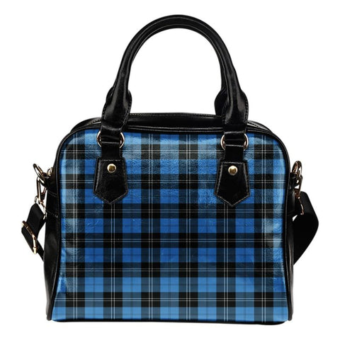 Tartan Shoulder Handbag - Ramsay Blue Ancient