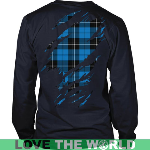 Image of Ramsay Blue Tartan Shirt And Tartan Hoodie In Me