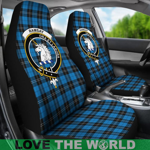 Ramsay Clan Badges Tartan Car Seat Cover Ha5