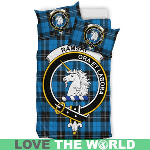 Ramsey Blue Ancient Clan Badge Tartan Bedding Set K7