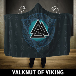 Viking Hooded Blanket - Valknut Viking | HOT Sale