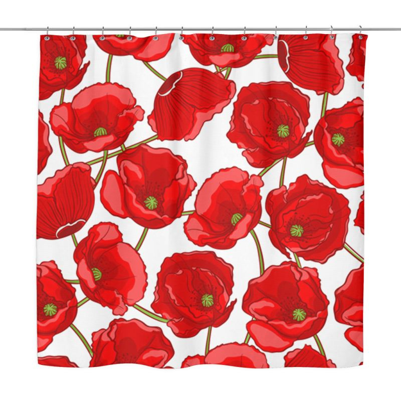 Red Poppy Shower Curtain A0 1 Curtains