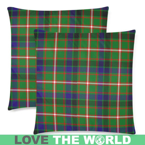 Image of Reid Green Tartan Pillow Cases Hj4 One Size / Reid Green Back Custom Zippered Pillow Case 18X18(Twin