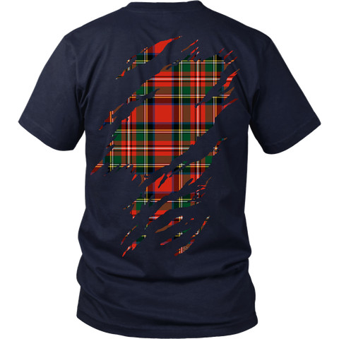 Stewart Royal Tartan Shirt Or Tartan Hoodie In Me TH8