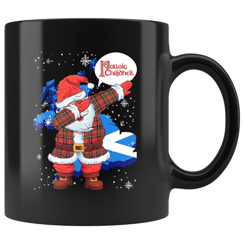 Image of Scotland Christmas - Santa Claus Dabbing Black Mug | HOT Sale