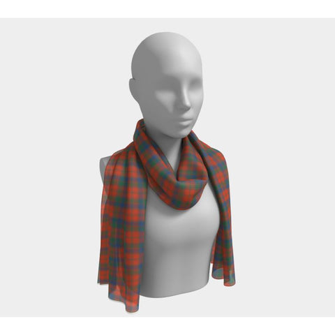 Image of Tartan Long Scarf - Robertson Ancient