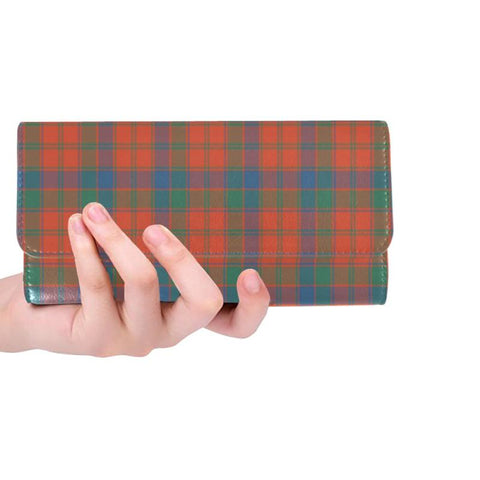 Robertson Ancient Tartan Trifold Wallet Hj4 One Size / Robertson Ancient Black Womens Trifold Wallet