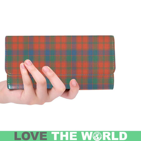 Robertson Ancient Tartan Trifold Wallet V4 One Size / Robertson Ancient Black Womens Trifold Wallet