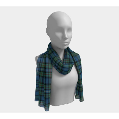 Tartan Long Scarf - Robertson Hunting Ancient - Bn |Women's Clothing| 1sttheworld