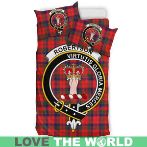 Robertson Modern Clan Badge Tartan Bedding Set K7