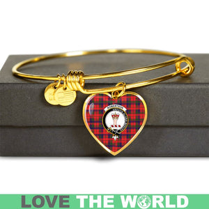Robertson Modern Tartan Golden Bangle - BN01