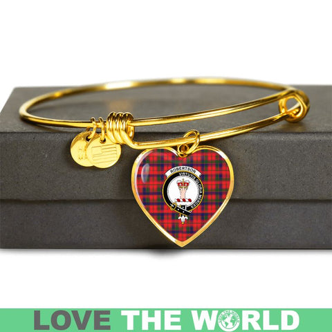 Robertson Modern Tartan Golden Bangle - Tm Adjustable Bangle Jewelries