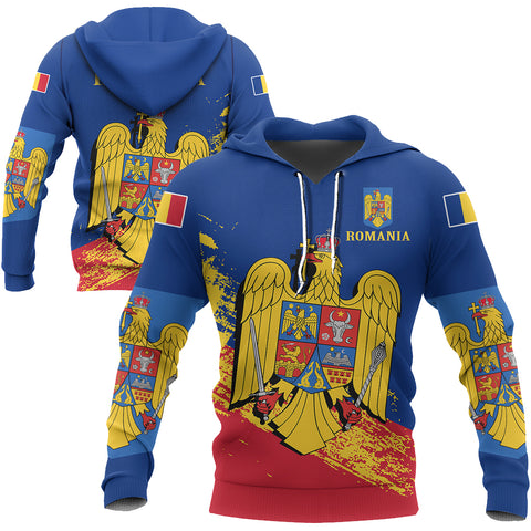 Image of Romania Special Hoodie Blue Version | High Quality | Hot Sale