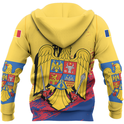 Image of Romania Special Hoodie Yellow - Version 02 | High Quality | Hot Sale